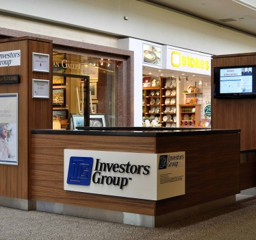 Investors Group kiosk, Carlingwood Mall, Ottawa