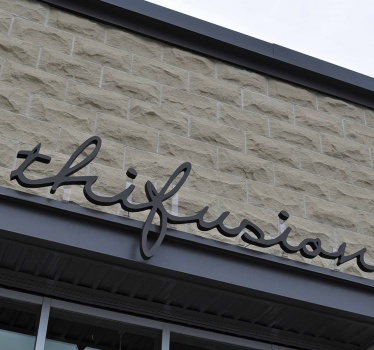 Thifusion restaurant and lounge, Ottawa, exterior signage