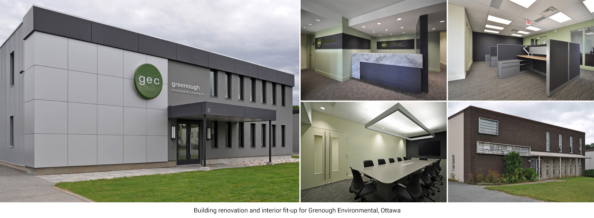 Building renovation and interior fit-up for Grenough Environmental, Ottawa