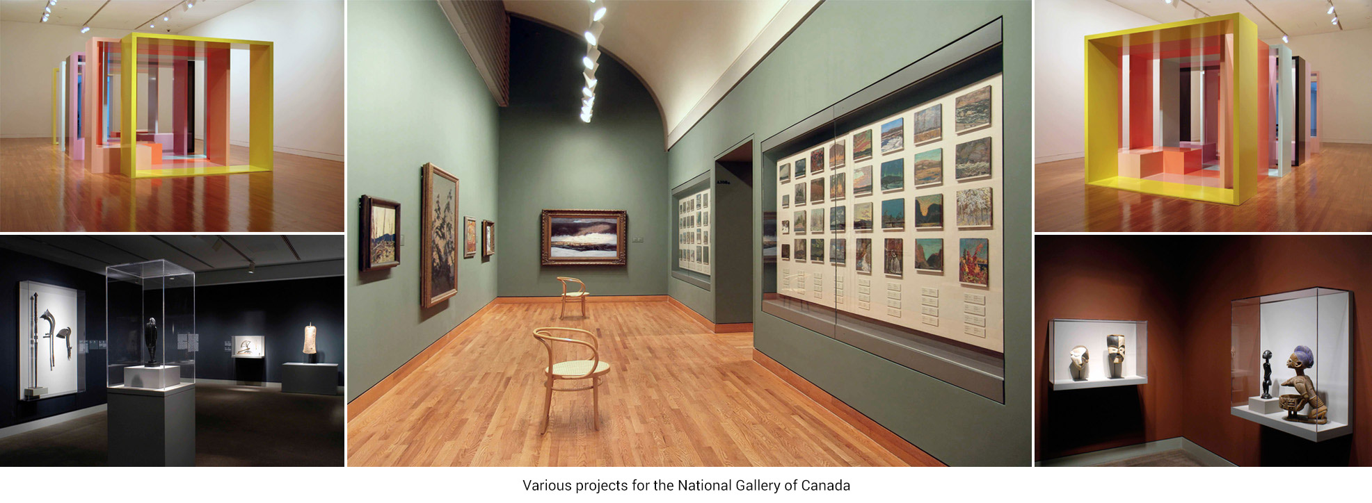 Various projects for the National Gallery of Canada