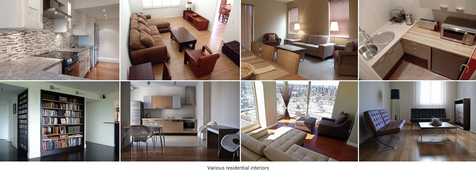 Various residential interiors